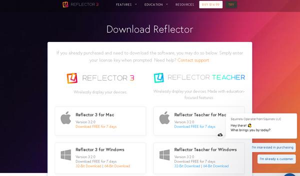 reflector3ダウンロードページ