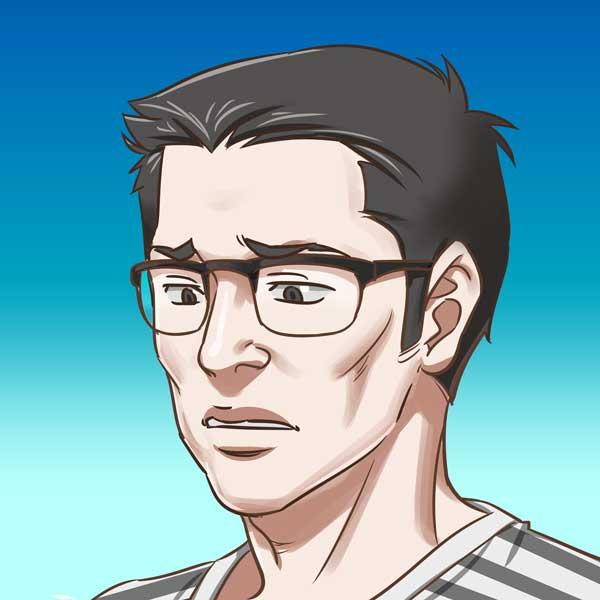 syumakun悲しい顔